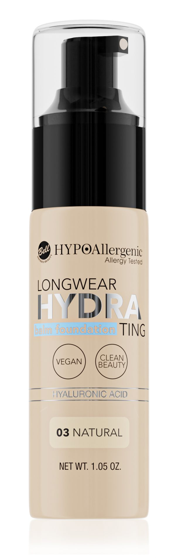 HYPOAllergenic Longwear Hydrating Balm Foundation 03 Natural